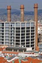 De drie schoorstenen in het district Sants-Montjuic
