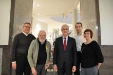 De VVIA-delegatie bij Vlaams Minister-President Geert Bourgeois