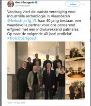Tweet van Minister-President Geert Bourgeois