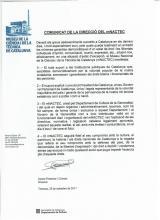 perstekst mNACTEC ivm de toestand in Catalonië