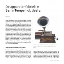 Marc BUSIO: De apparatenfabriek in Berlin Tempelhof