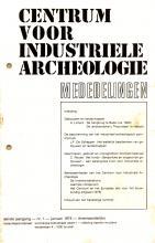 Het Mededelingenblad van het Centrum voor Industriële Archeologie