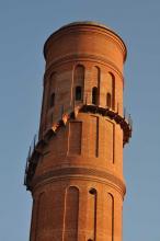 De gerestaureerde watertoren van de Poblenou